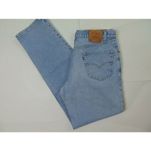 Vintage Levi's 550 36 X 36 Relaxed Fit Blue Jeans